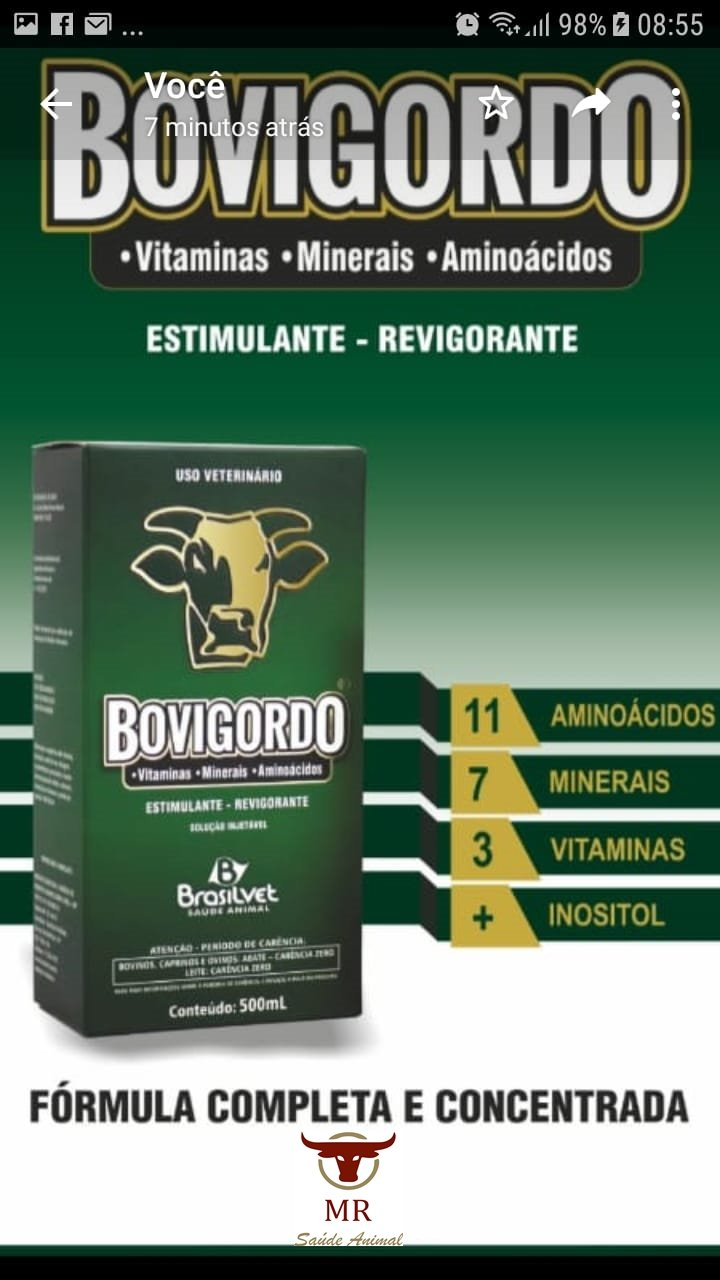 Venda de BOVIGORDO MODIFICADOR+PR