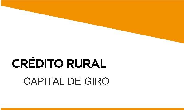 Venda de CREDITO CAPITAL DE GIRO