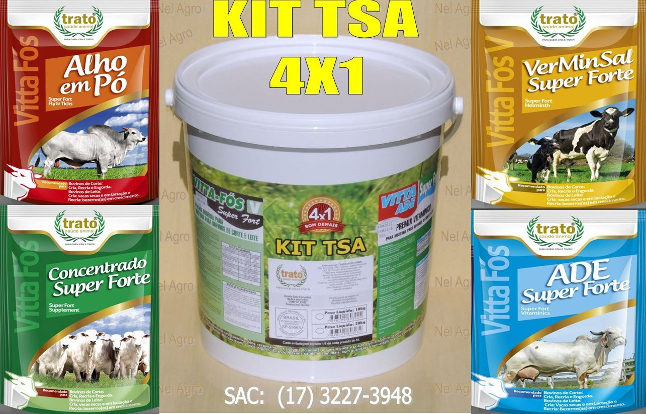 KIT TSA MOSCA/CARRAPATOS