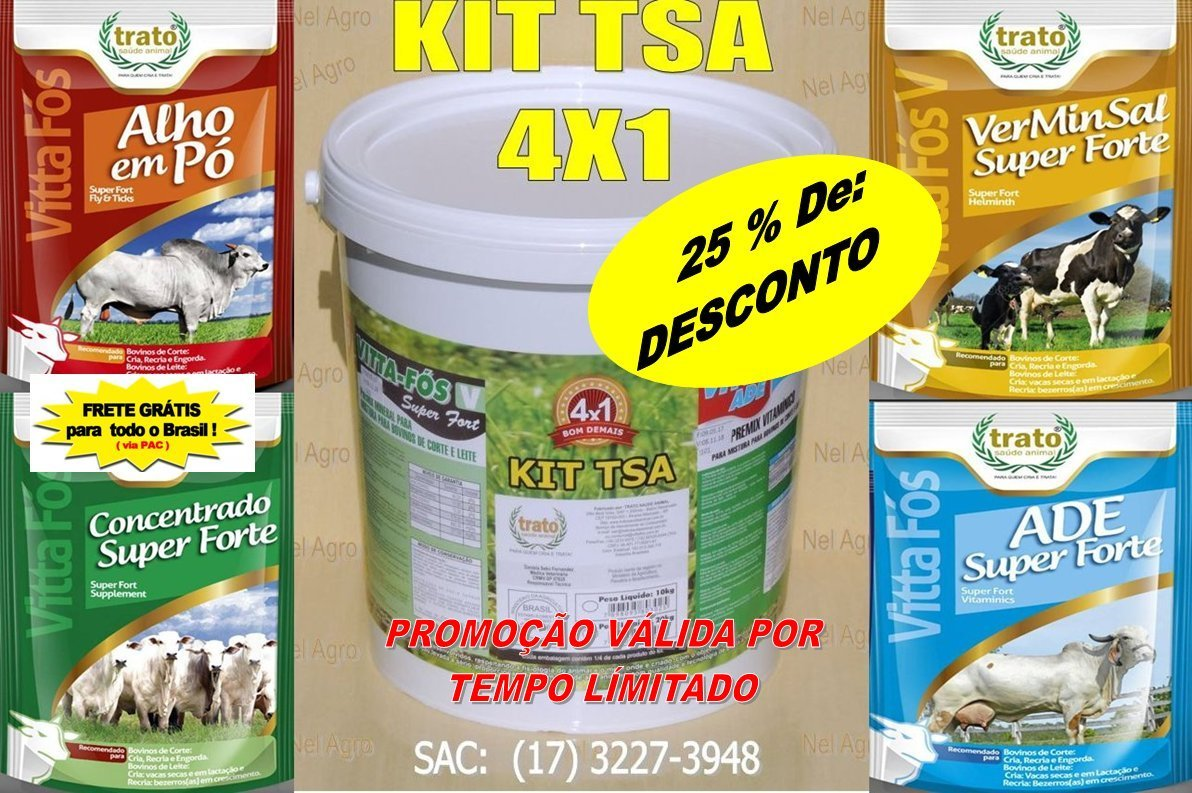 MOSCAS/CARRAPATO KIT 4X1