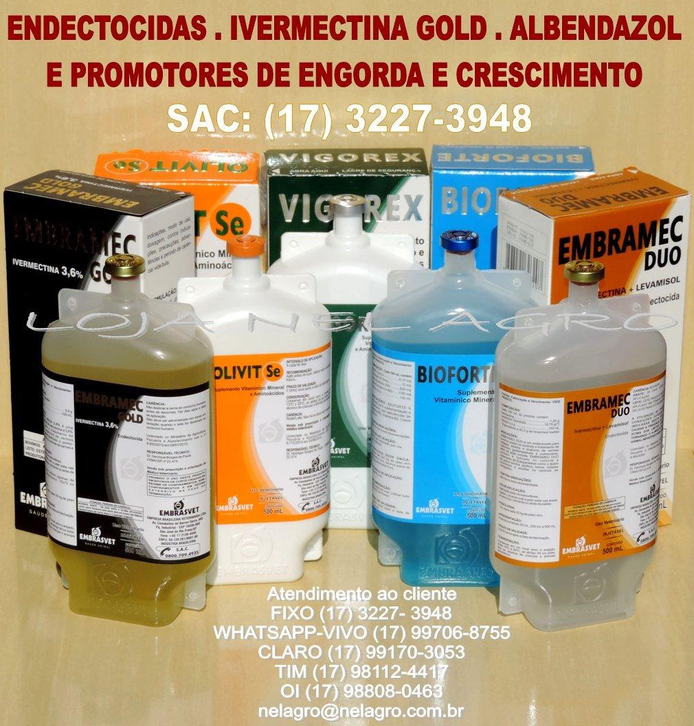 Venda de EMBRAMEC GOLD E BIOFORTE