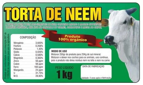 Venda de TORTA DE NEM-MOSQUICIDA