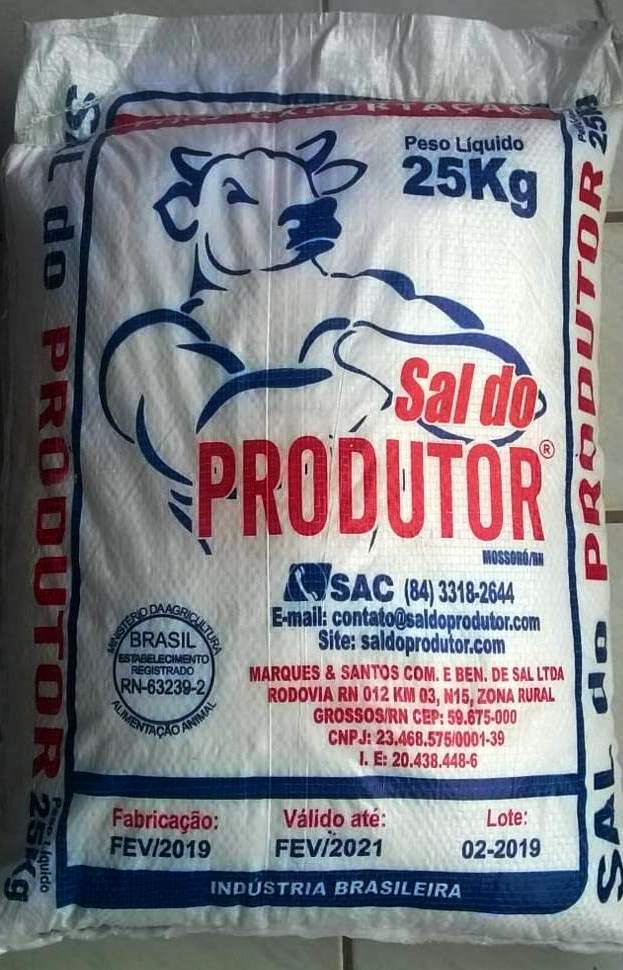 Venda de SAL DO PRODUTOR 25 KG