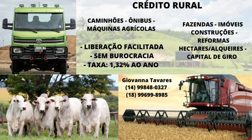 Venda de CRÉDITO RURAL - CAPITAL