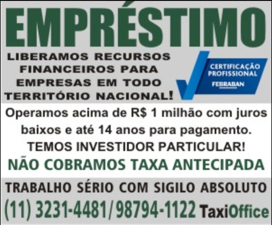 Venda de CRÉDITO RURAL B.C BRASIL