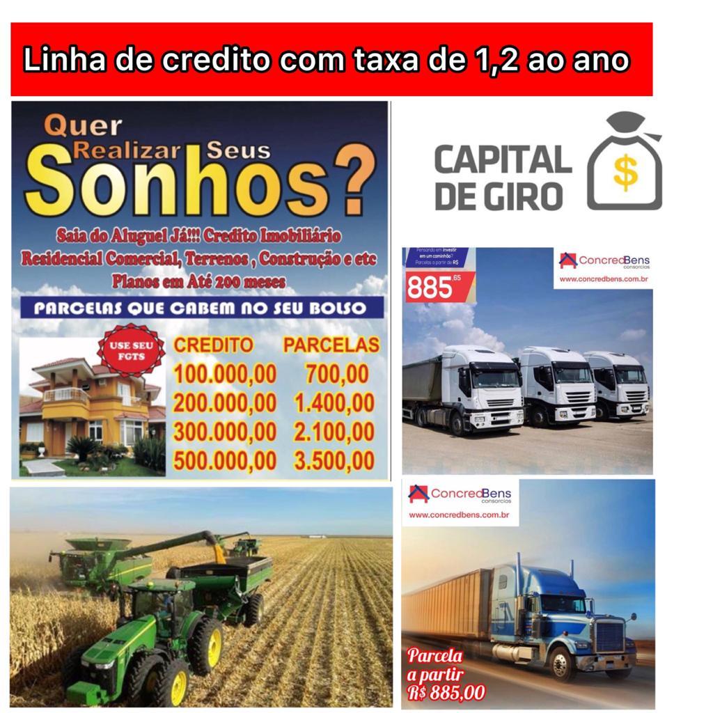 Venda de CRÉDITO RURAL E AGRICOLA