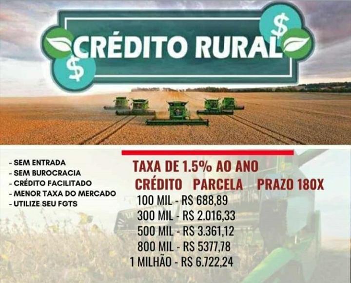 Venda de CRÉDITO RURAL, CAP GIRO