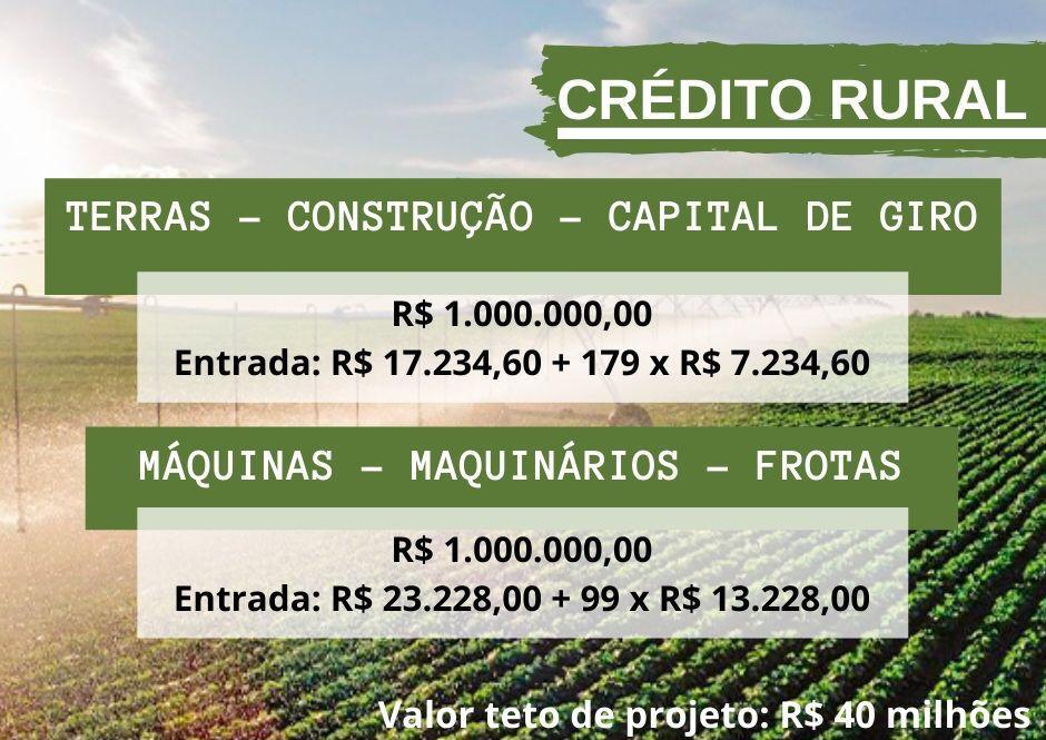 Venda de CRÉDITO RURAL,CAP GIRO