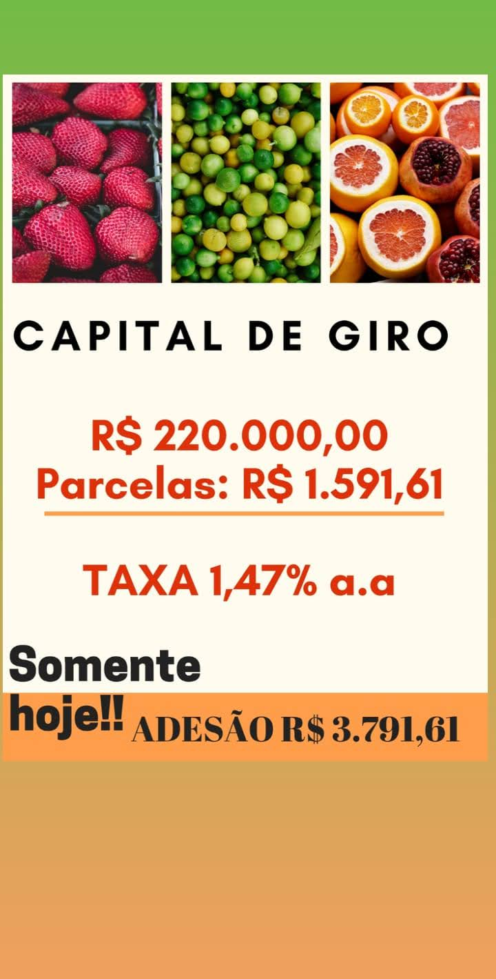 Venda de CAPITAL DE GIRO