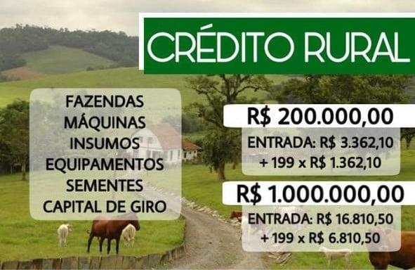 CRÉDITO C/ TAXA 1.47% ANO