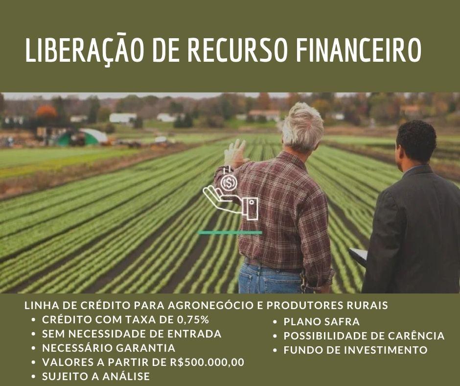 Venda de CRÉDITO AGRO TAXA 0,12%
